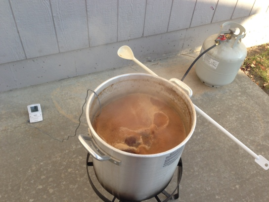 My very first brew day on a turkey fryer setup.
