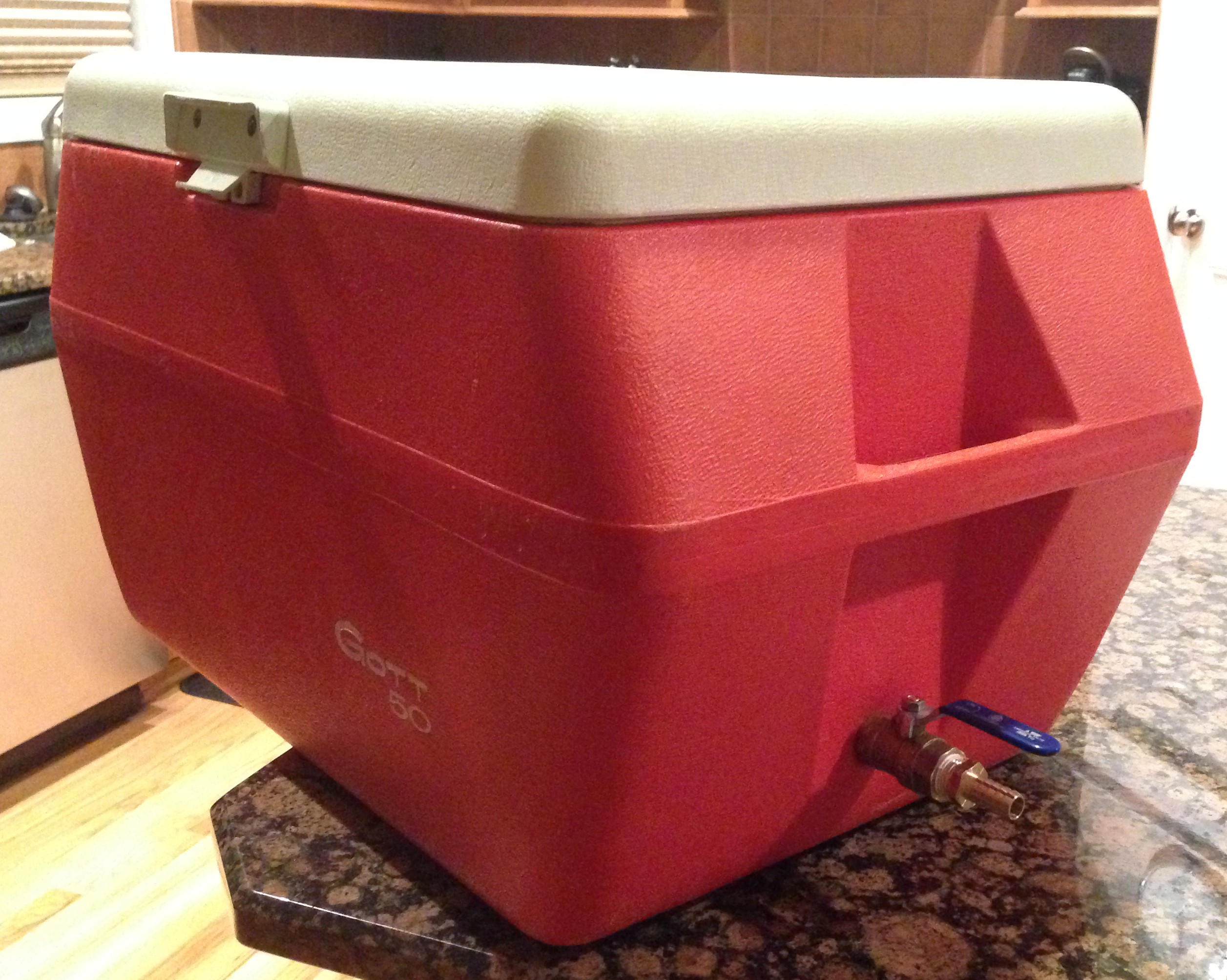 Step 5: Cooler Mash Tun   Brew on a Budget